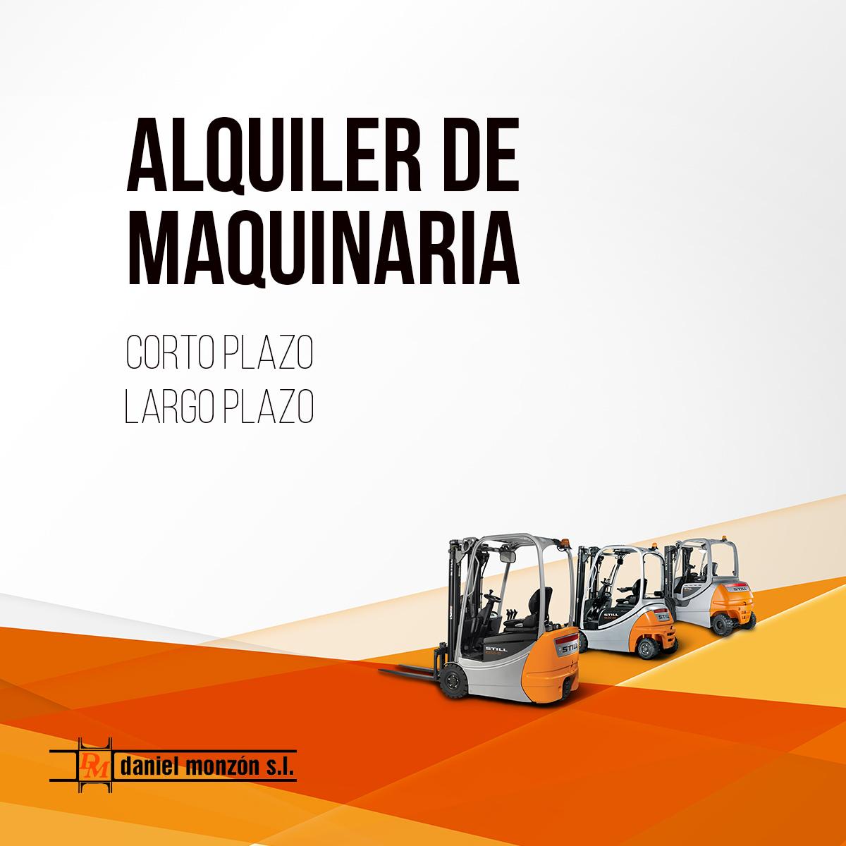 ALQUILER MAQUINARIA industrial en Valencia
