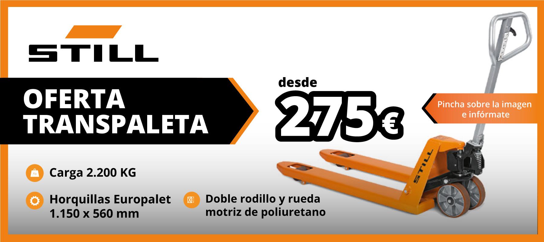 Oferta Transpaleta Still desde 275 euros | Daniel Monzón Still